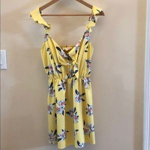 Sweet Wanderer Yellow Sun Dress